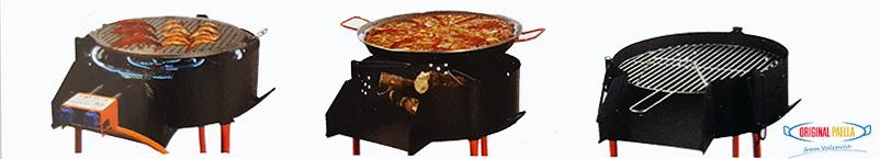 Multifonction: Paella au feu de bois, Barbacue, Paravents pour bruleur a gaz