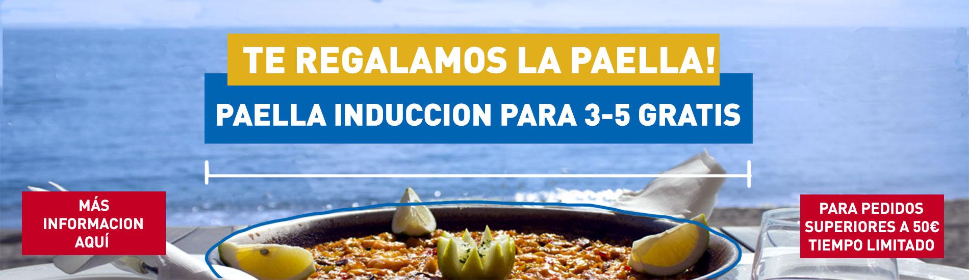 solo la tienda mas grandes de paellas o paelleras y paelleros te puede regalar una paella especial induccion de 32 cm o 3-5 personas gratis