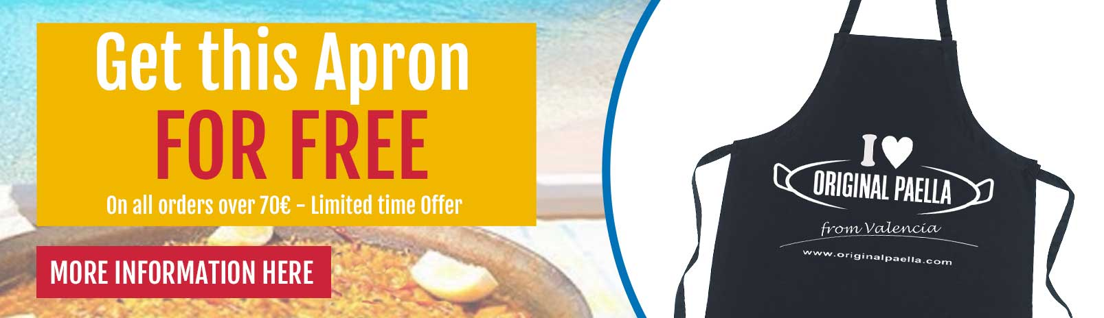 paella apron free only at the best paella pan store