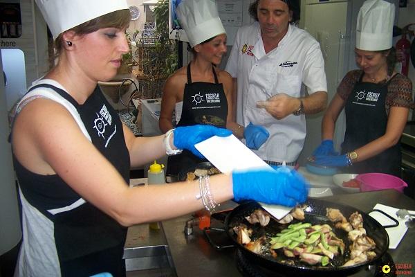 aprende hacer paella valenciana