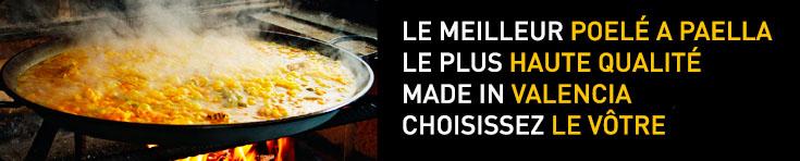Le meilleur et original poele a paella de Valence Espagne