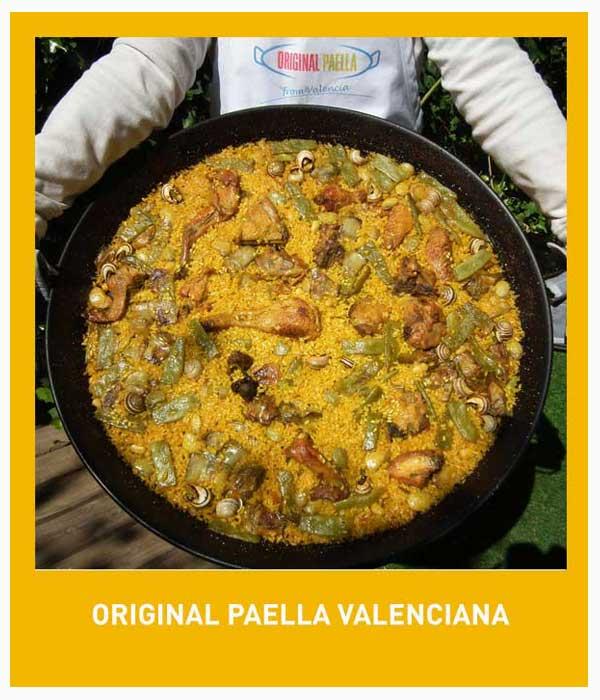 Original Paella Valenciana receta original de Valencia