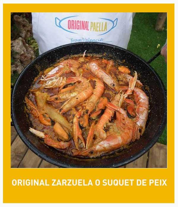 Zarzuela o Suquet de peix receta original de paella