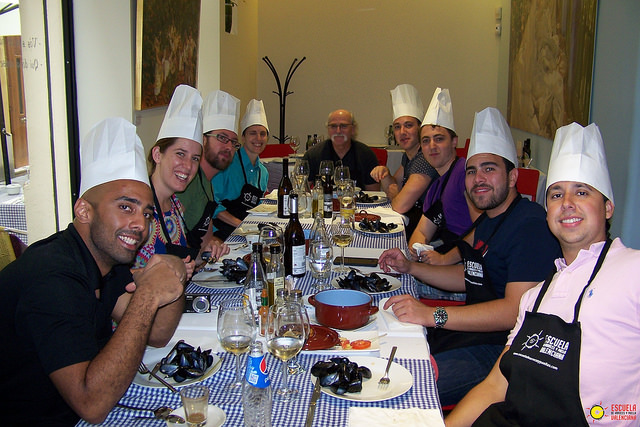 almuerzo valenciano escuela de paella