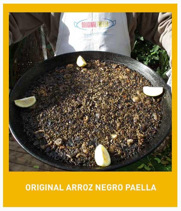 Arroz negro paella receta original