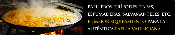 Equipamento para cocinar paellas