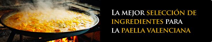 Ingredientes para paella valenciana