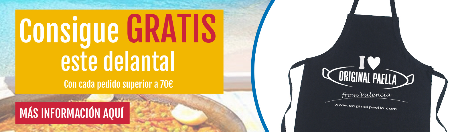 el delantal de original paella from valencia GRATIS