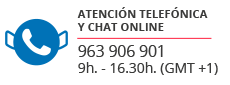 atencion al cliente original paella telefono chat