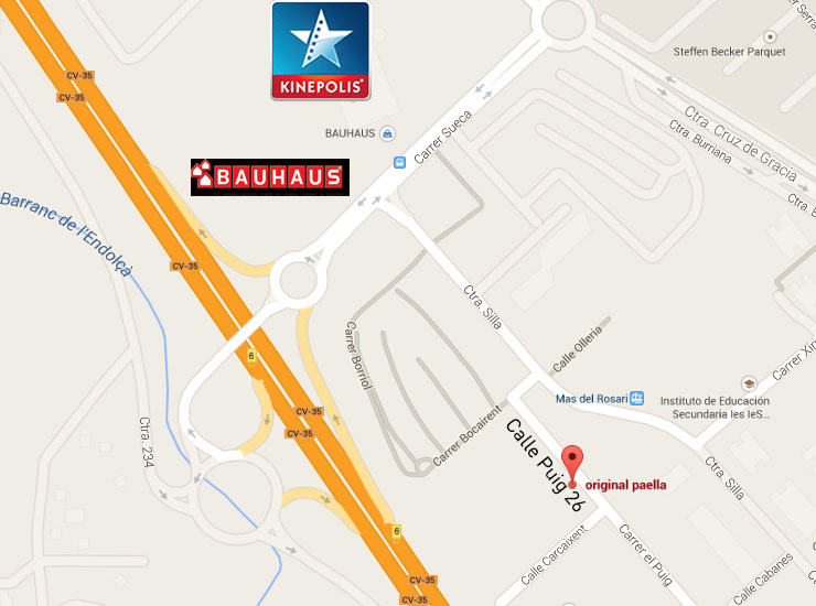 mapa original paella calle puig nº26-4 46980 Paterna Valencia