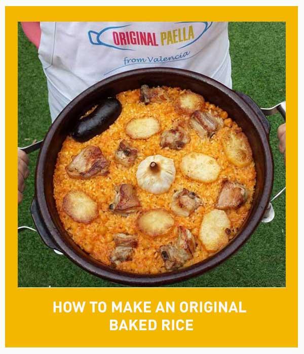 Baked rice paella recipe