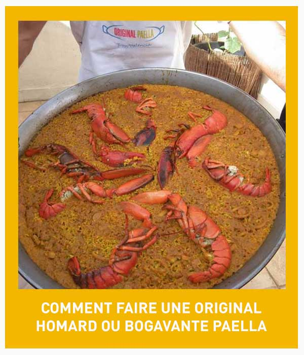 receta original de la paella de bogavantes y langosta paso a paso con fotografias, video y pdf descargable