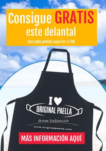 delantal original paella gratis