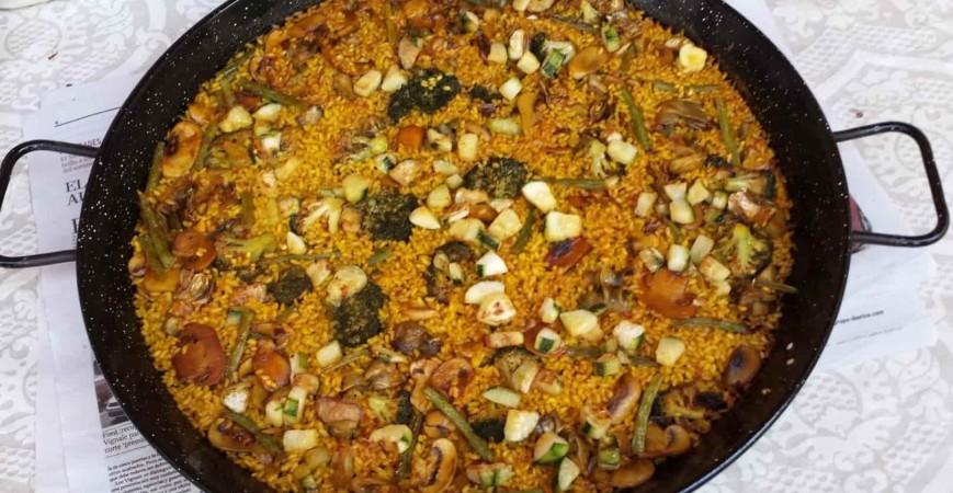 Guia facil paella de verduras